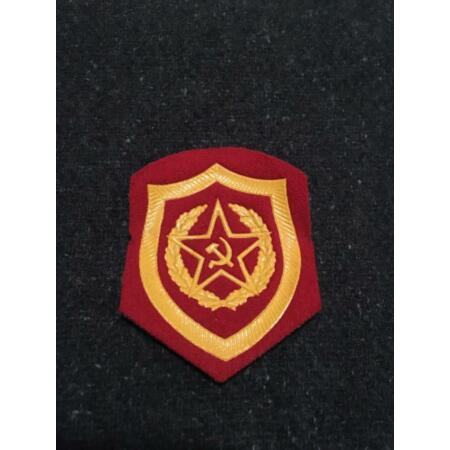 img-Genuine Cold War Period Russian Soviet Army Uniform Badge - Mechanised Infantry