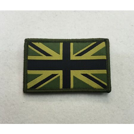 img-Union Jack Patch MTP Subdued Green Badge, TRF Military Army Subdued Hook & Loop