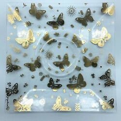 Kyпить Georges Briard Mid-Century Modern Gold Tray Plate Butterfly Pebbled Signed на еВаy.соm