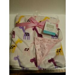 Kyпить Hudson Baby Two Sided Blanket (Pink and Girafffe NEW 30x40 inches Polyester на еВаy.соm
