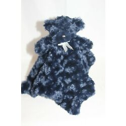Kyпить Blankets and Beyond Security Blanket blankie Lovey Bear Swirls Navy Blue Minky на еВаy.соm