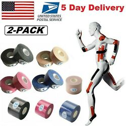 2 Rolls 5M Kinesiology Sport Muscle Care Tape Elastic Breathable Injury Support