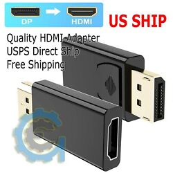 Kyпить Display Port to HDMI Male Female Adapter Converter Cable DisplayPort DP to HDMI  на еВаy.соm