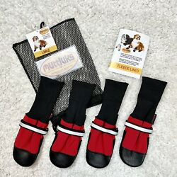 Muttluks Dog Boots NEW Fleece Lined Boot Size Large Booties Mutt Luks Red Black