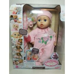 Baby Annabell 17'' Soft Skin & Body Blue Eyes She Drinks Cries and more.