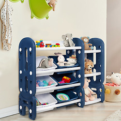 Kyпить Kids Toy Storage Organizer with Bins and Multi-Layer Shelf for Bedroom Playroom  на еВаy.соm