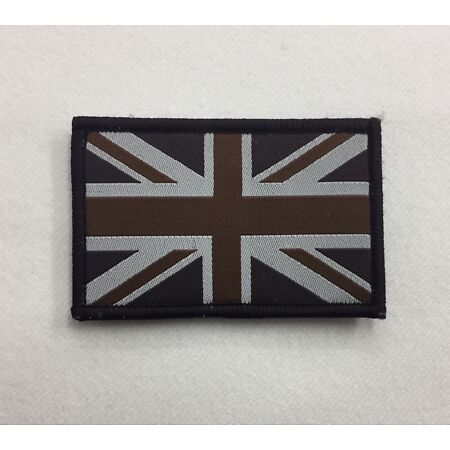 img-Union Jack Subdued Badge TRF, Military, Army, Sleeve, Arm, Patch, Hook Loop