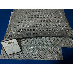 Kyпить Sparkles Silver Rhinestone Throw Pillow Home Madison Ave Placemat 3 Pc Set New! на еВаy.соm
