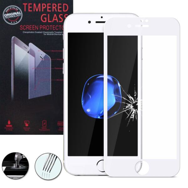 FrankreichFilm Toughened Glass Protection White For  IPHONE 7 4.7