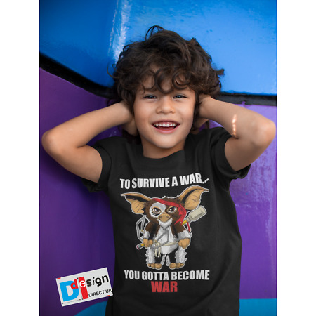 img-Gizmo Gremlins War Rambo T-Shirt Boys Girls Movie Retro Tee Children Gift Kids