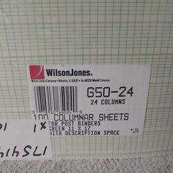 Kyпить Wilson Jones G50-24 100 Columnar Sheets Ruled  Size - Green - 11x7 new sealed на еВаy.соm
