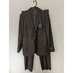 NWT NEW The Savile Row Co London Bromley 46L Pinstripe Suit Jacket Pant 37x34
