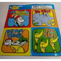 New  4 Pack Dr Seuss Cat in the Hat Window Stickers Clings Decorations Decals