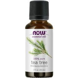 NOW FOODS 100% Pure Tea Tree Oil 1 oz (30 ml) Clearance for stained bottle