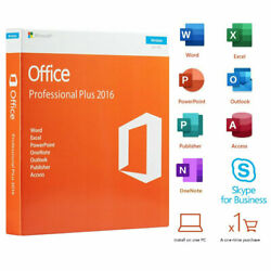 Kyпить Office Professional Plus 2016 Retail DVD For Windows 1 PC License Product Key на еВаy.соm