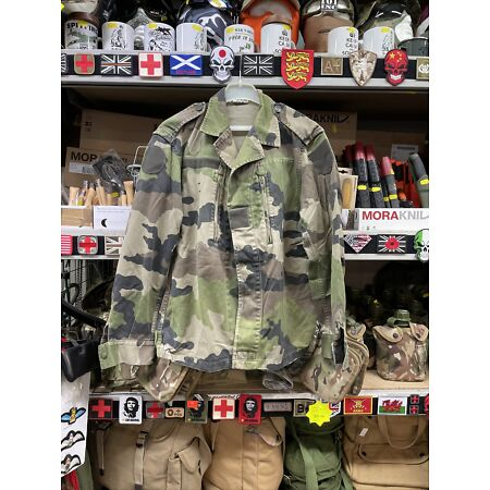 img-GENUINE FRENCH ARMY VINTAGE F2 LIGHTWEIGHT FATIGUE COMBAT JACKET/SHIRT!!MED/LRG!