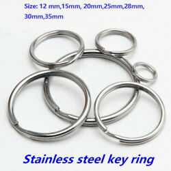 Kyпить Premium Pack 12//15/20/25/30/35 mm Key Rings Chains Split Ring Hoop Metal Steel на еВаy.соm