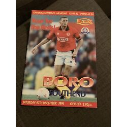 Kyпить 1994 Middlesbrough V Southend Soccer/football Programme на еВаy.соm