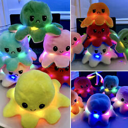 Kyпить LED Reversible LIGHT Flip Octopus Plush Stuffed Toy Soft Animal Accessories NEW  на еВаy.соm