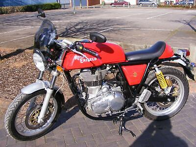 Royal Enfield Continental GT Red Cafe Racer 2014 3331k FSH,MOT, HPI clear p/ex