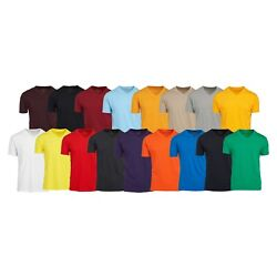 Kyпить Men's V Neck T Shirts 100% Cotton Premium Heavy Weight Short Sleeve Solid Colors на еВаy.соm