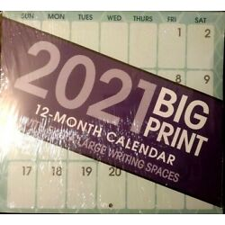 Kyпить 2021 BIG PRINT WALL CALENDAR ORGANIZER EXTRA LARGE WRITING SPACES 10x11 FREE S/H на еВаy.соm