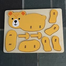 Kyпить Wooden 3D Puzzle Assembly Jigsaw Toys Children Cartoon Animal Puzzle Toy Bear на еВаy.соm