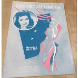 Kyпить When They Ask About You 1943 Sheet Music  (b)  на еВаy.соm