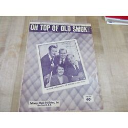 Kyпить On Top of Old Smoky 1951  Sheet Music  (b)  на еВаy.соm