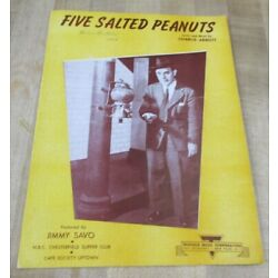 Kyпить Five Salted Peanuts 1945  Sheet Music  (b)  на еВаy.соm