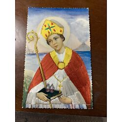 Kyпить Vintage Postcard Threaded Silk Saint Gennaro на еВаy.соm
