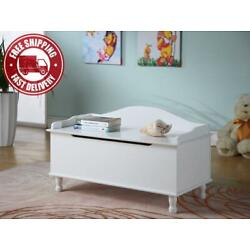 Kyпить King's Brand Wood Storage Bench Toy Chest, White Finish на еВаy.соm