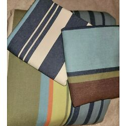 Kyпить Pottery Barn Teen Duvet 3PC Sham Set Twin Stripe Blue Denim Orange Tan PB Dorm  на еВаy.соm