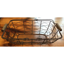 Small Wire Basket with Swing Handles Very Nice