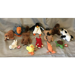 Kyпить Ty Beanie Babys Assorted lot Of 7 And Another  5 mini's. Most Without Tags на еВаy.соm