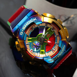 Kyпить NEW Casio Rainbow G-SHOCK Color GM-110RB-2APR Watch Digital Dial Gold Watch на еВаy.соm