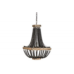 Kyпить Creative Co-Op Wood & Metal Framed Chandelier with Bead Draping, Tan andBlack на еВаy.соm