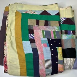 Kyпить Vintage handmade quilt coverlet full crazy quilt square pattern multi colored на еВаy.соm