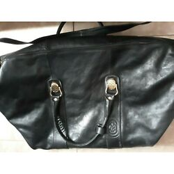Kyпить Marino Orlandi Black Leather Travel Bag Jumbo Duffel Made in Italy - Nice на еВаy.соm