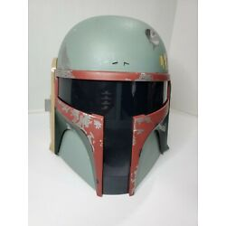 Kyпить 2009 Hasbro Star Wars Bobba Fett Mandalorian Talking Helmet - Missing Antenna на еВаy.соm