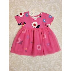 Kyпить Hanna Andersson 70 6-12 Month Girl Pink Floral Tulle Tutu Overlay Dress NEW на еВаy.соm