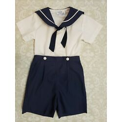 Kyпить American Classic Clothes 3T Nautical Sailor Navy Blue White Outfit Not Smocked  на еВаy.соm