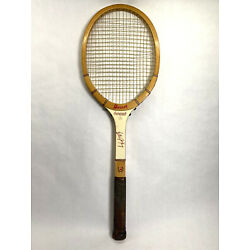 Kyпить Vintage Billie Jean King Autograph Wood Tennis Racket на еВаy.соm