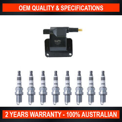Pack of SWAN Ignition Coils & NGK Iridium Spark Plugs for HSV XU8 (5.0L)