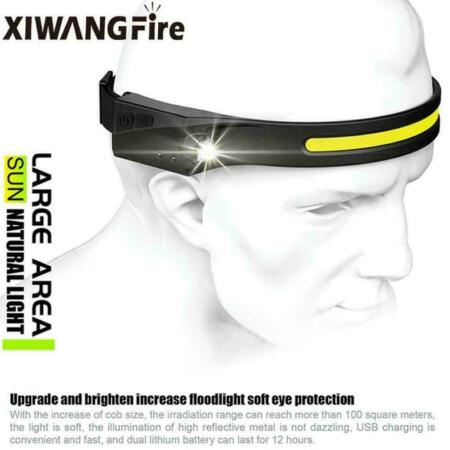 img-Outdoor Running Headlights For Night Riding W/ USB Rechargeable Mini Lights N9A0