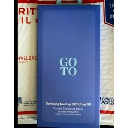 Goto Curved Tempered Glass Screen Protector Samsung S20 Ultra MRSP44.99 *READ*