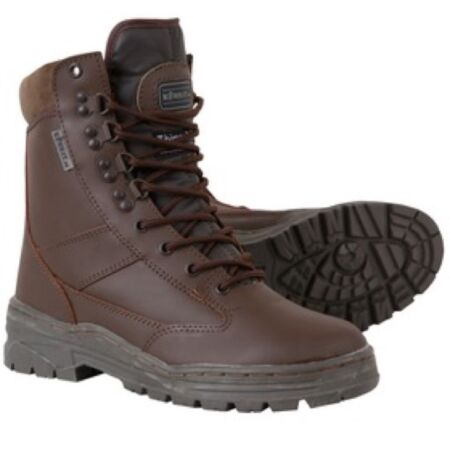 img-BRITISH ARMY CADET BROWN LEATHER BOOTS MENS BOYS UK 3 - UK 12 WORKWEAR FOOTWEAR