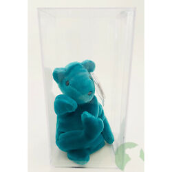 Kyпить 2nd/1st Teal Old Face Teddy MWMT MQ Uneven Eyes ODDITY Authenticated Ty Beanie на еВаy.соm