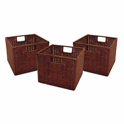 Winsome Wood Leo Set of 3 Wired Baskets, Small