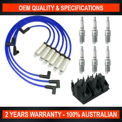 Pack of SWAN Ignition Coils & TopGun Leads Kit Holden Berlina (3.8L S/Charged)
